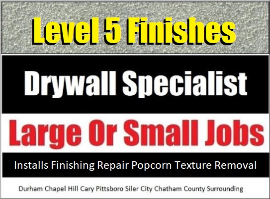Drywall Ceiling Repair Texture Removal - Fearrington Village NC