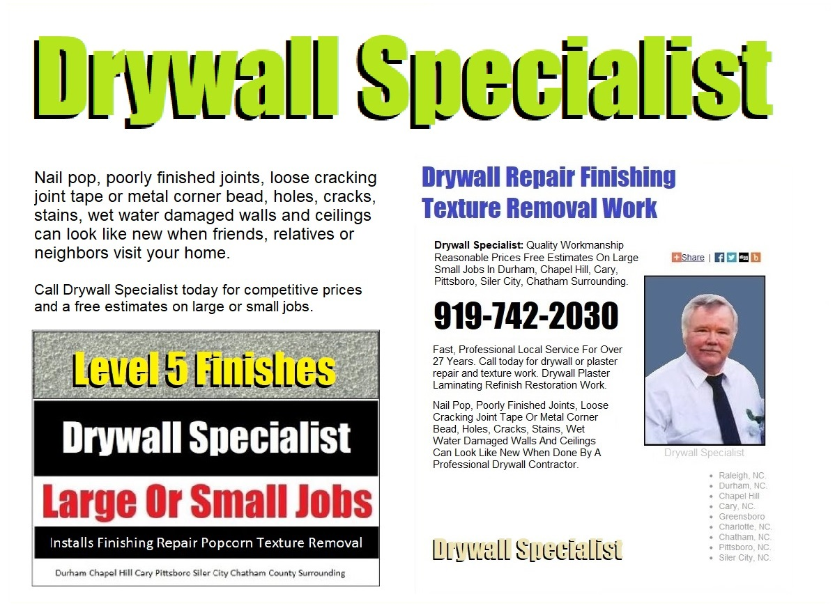 Quality Drywall Service In Pittsboro NC