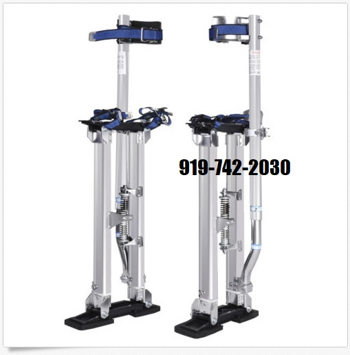Brand New High Quality Ergonomic Adjustable Stilt. The perfect tool to help you save time on taping, finishing and paint work.