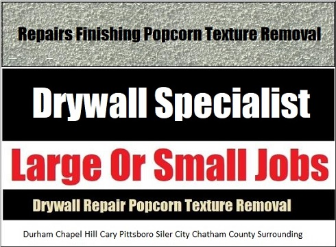 Pittsboro Drywall Service Areas