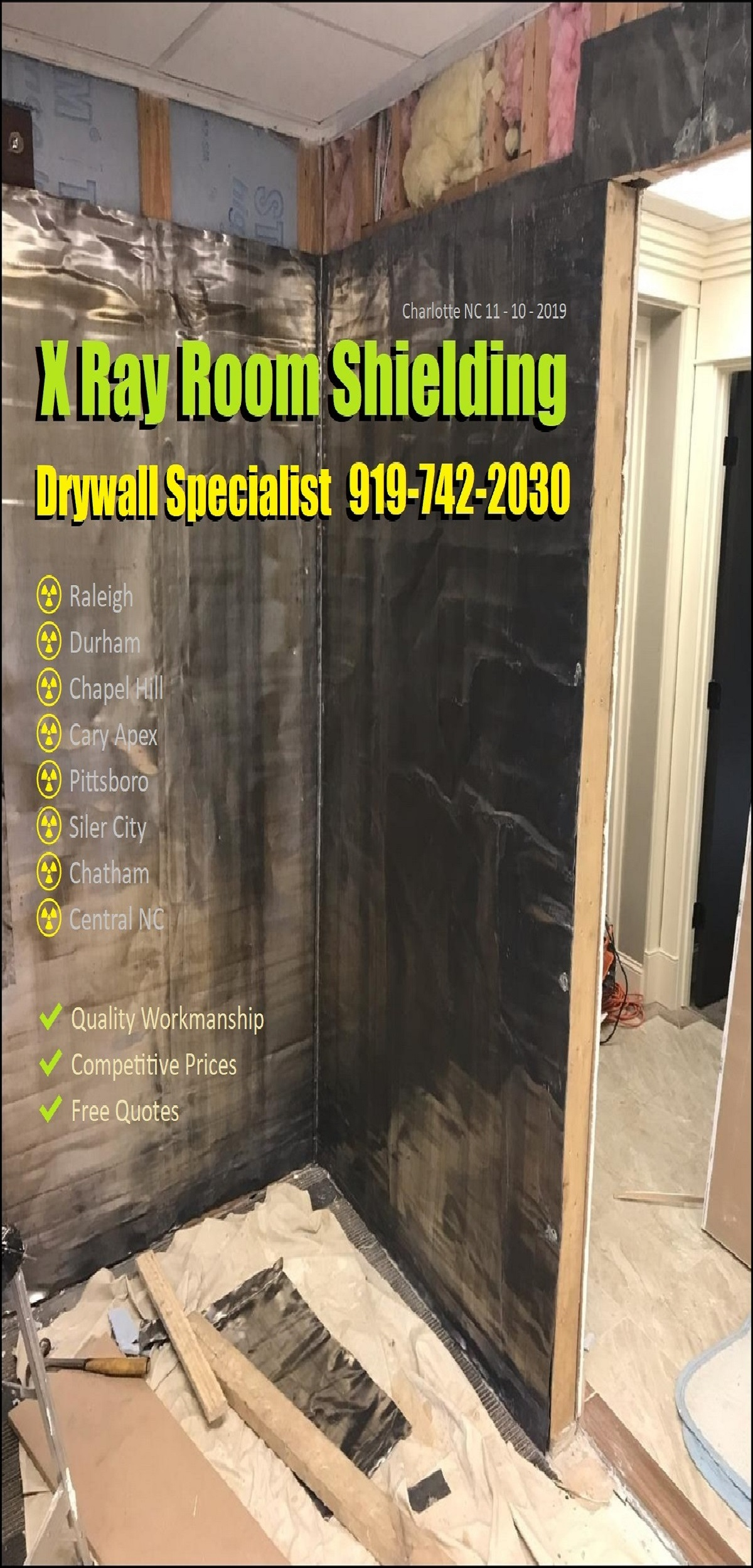 Nextdoor Wallboard Hanger Finisher Repair And Popcorn Texture Removal Soundproofing Contractor | North Carolina