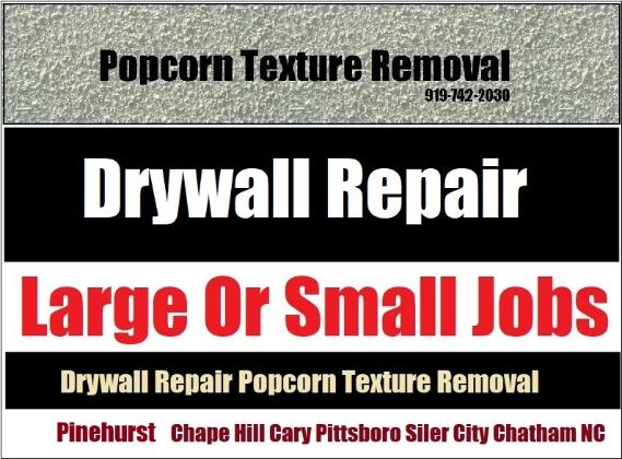 Drywall Hanger Finisher Repair Texture Removal Soundproofing - Pittsboro NC
