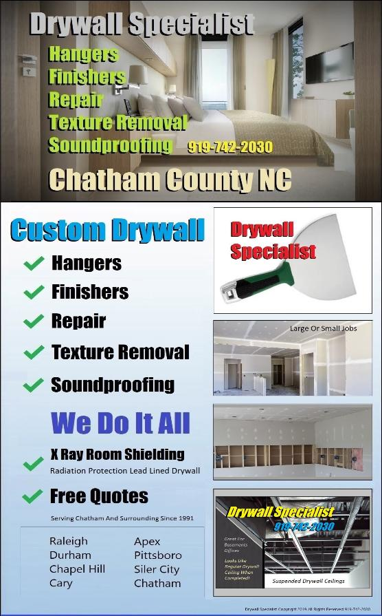 919-742-2030 Ceiling Texture Removal Elimination Extraction Work Pittsboro